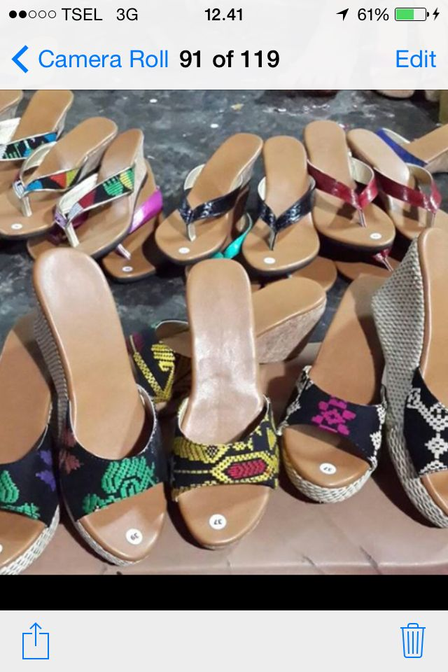 Made to Order# min purchase 5 pcs# Wedges and Flat # Songket/Balinese Ikat# Bali  /Indonesia