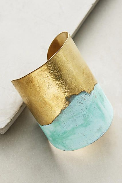 I'm completely obsessed with brass cuff bracelet. drooool! (affiliate)