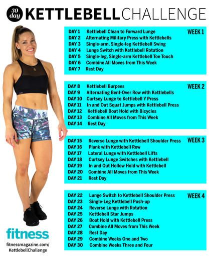 A new month means a new workout challenge! Check out this 30 day kettlebell challenge that will not only teach you proper form for kettlebell exercises, but help you get a toned and strong body. These kettlebell workouts target your arms, butt, legs and abs for a total body calorie and fat burn.