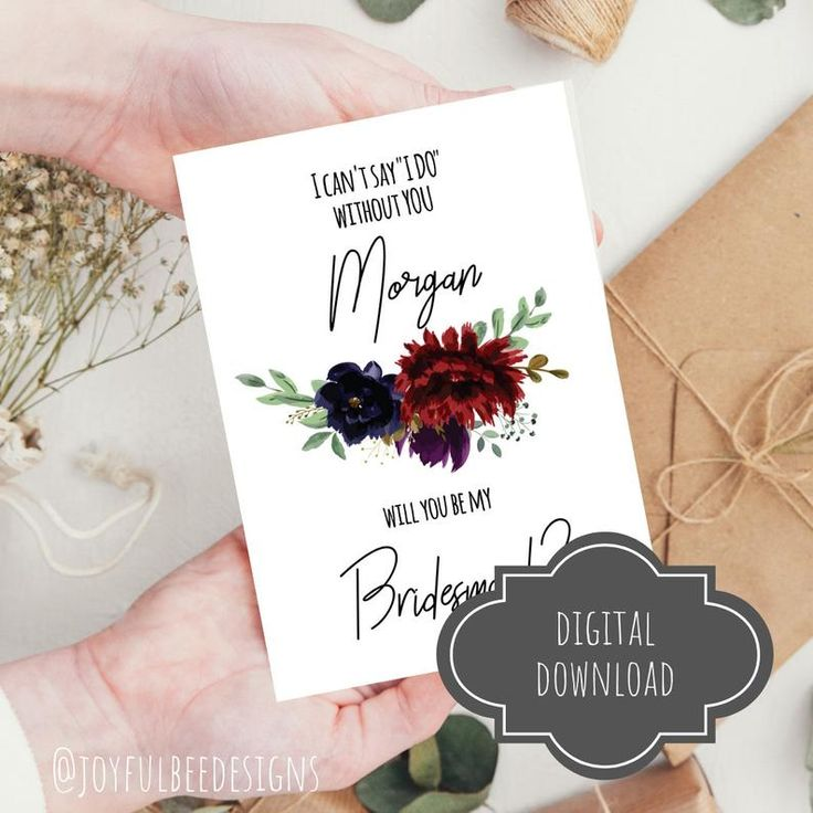 Bridesmaid proposal will you be my maid of honor matron of