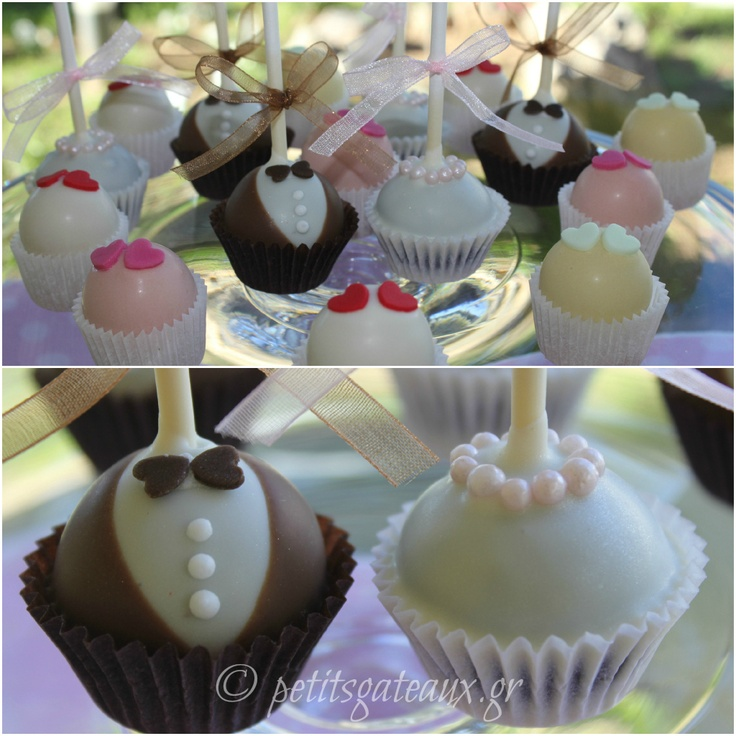 Wedding cake pops and almond petits fours!