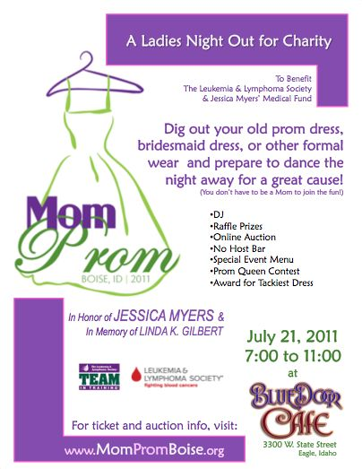 Mom Prom - Attn sister's circle!!!! Amazing fund raiser idea!!!!! I'm a dreamer so someone organized needs to get on this lol