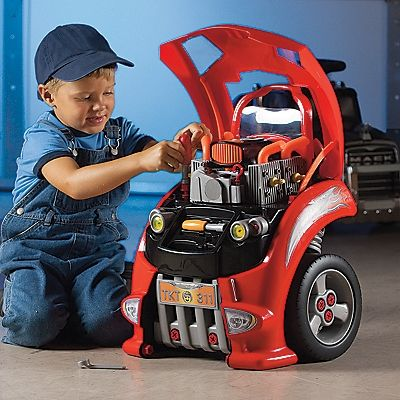 It's every little gearhead's dream come true: a hard-to-find toy car engine built for tinkering!