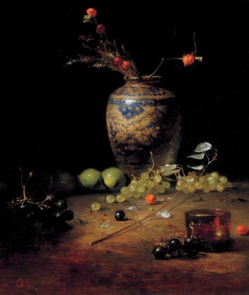 David Leffel - Still Life, oil on canvas, 23 x 20 inches