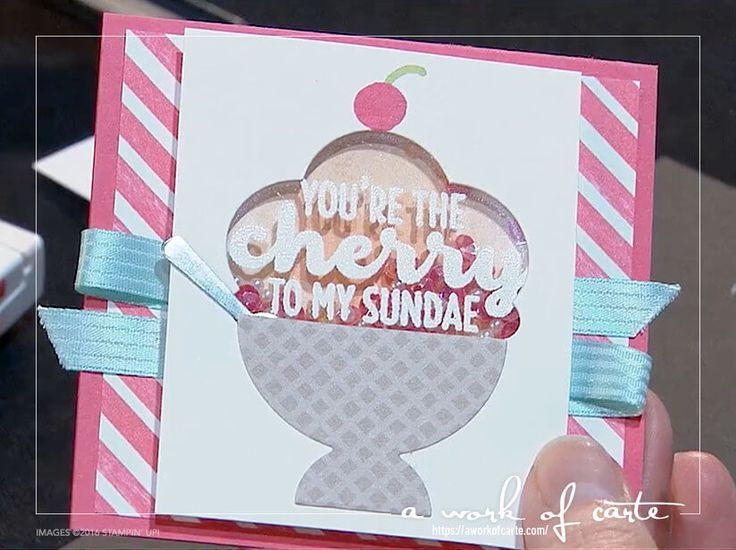 2017 Occasions Sneak Peek: Cool Treats Stepped Up Cherry To My Sundae Card