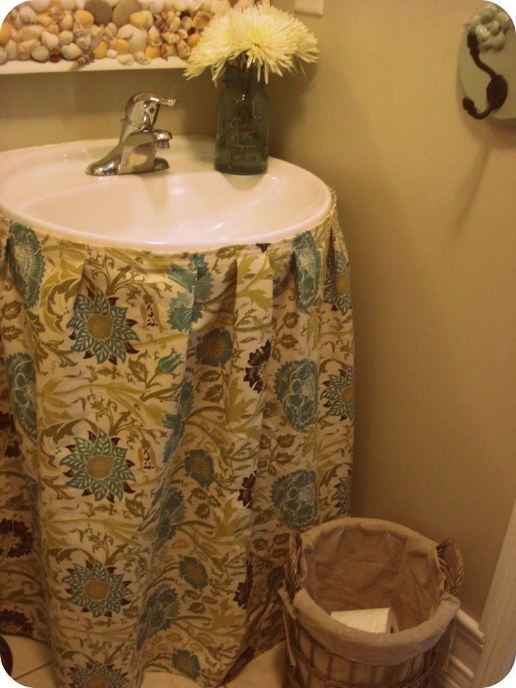 Wonderful DIY Sewing A Sink Skirt