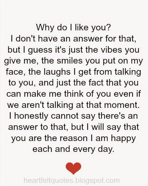 why do i like you...♥ love quotes Heartfelt quotes, I