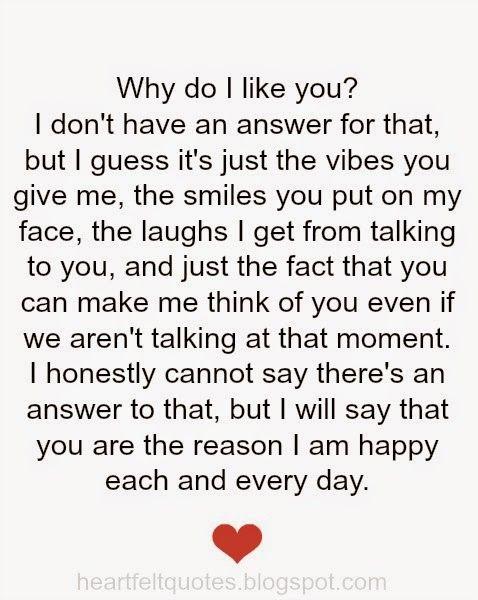 why do i like you...♥ love quotes   Heartfelt quotes I ...