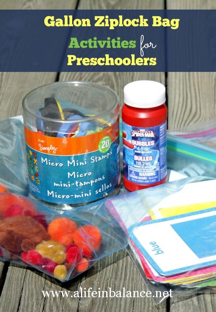 Gallon Ziploc Bag Activities For Preschoolers Preschool Activities Preschool Fun Activities For Kids