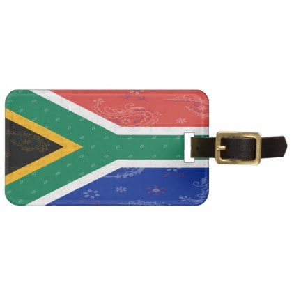 South Africa Flag Luggage Tag - accessories accessory gift idea stylish unique custom