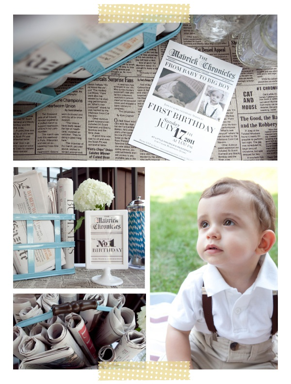 Mrs. Sunglasses' Vintage Newspaper Boy Birthday Party | Hellobee