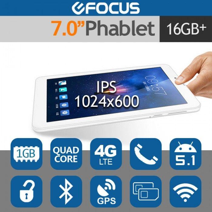 "CUBE 7"" Talk7X 4G LTE Android 5.1 Tablet Phone 64Bit CPU 1GB/16GB"