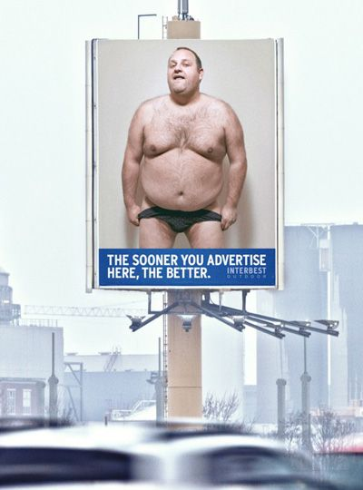 Y Not Just Film convinced the public that renting this billboard would be better than advertising the nude model.