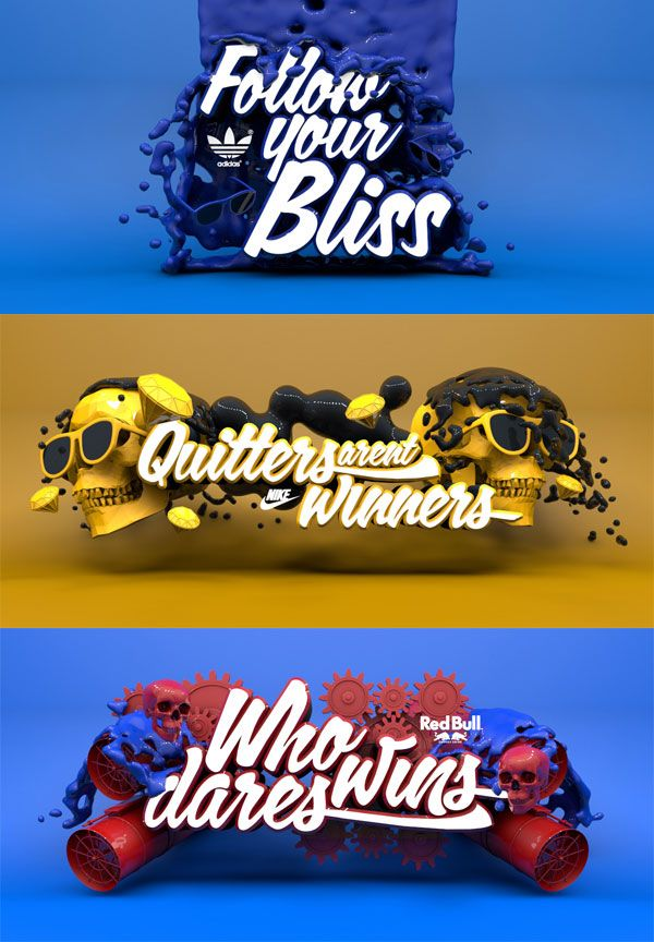 Expressive typography #inspiration #poster #typography #3d