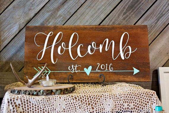 Painted Name Sign // Calligraphy Name Board // by ArtAndSoulShoppe