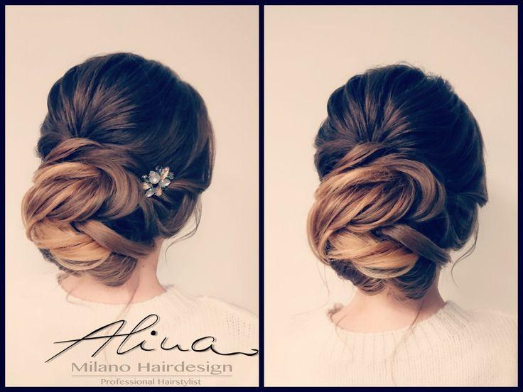 hochsteckfrisur lange haare braune haare lockere frisur