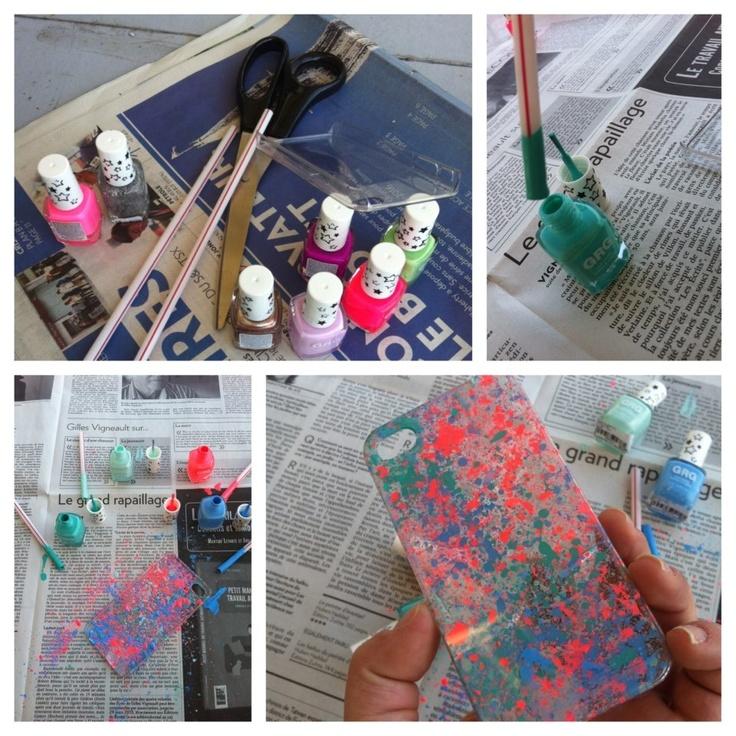 Cool nail polish phone case!!!! DIY