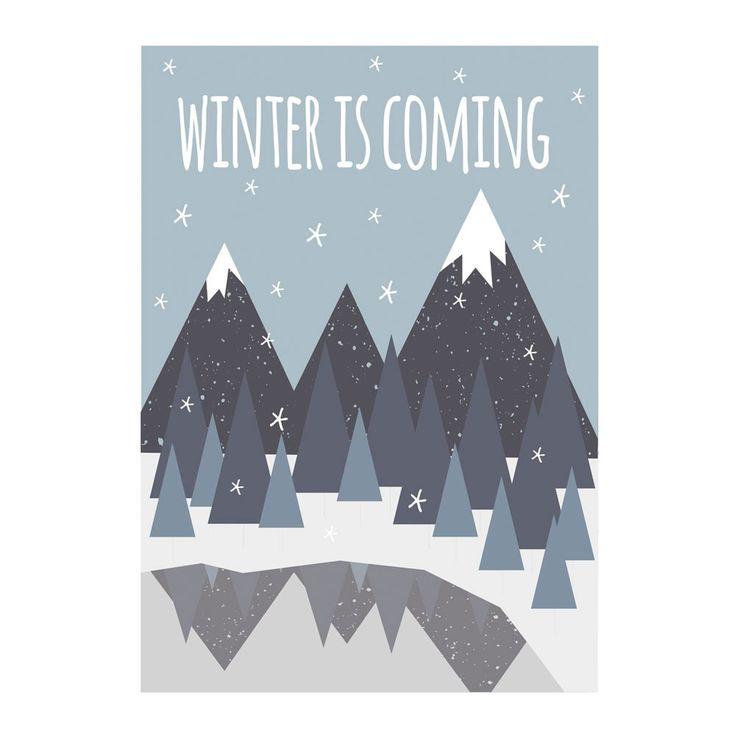 Poster - Winter is coming - Quote uit Game of Thrones van DesignClaud | Markita.nl