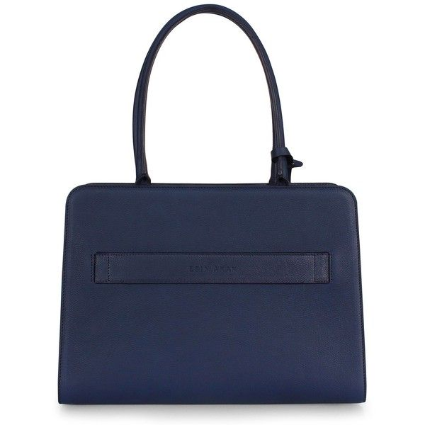 Esin Akan - City Tote Navy (4,860 GTQ) ❤ liked on Polyvore featuring bags, handbags, tote bags, blue tote, navy tote, laptop tote, navy blue tote and navy tote bag