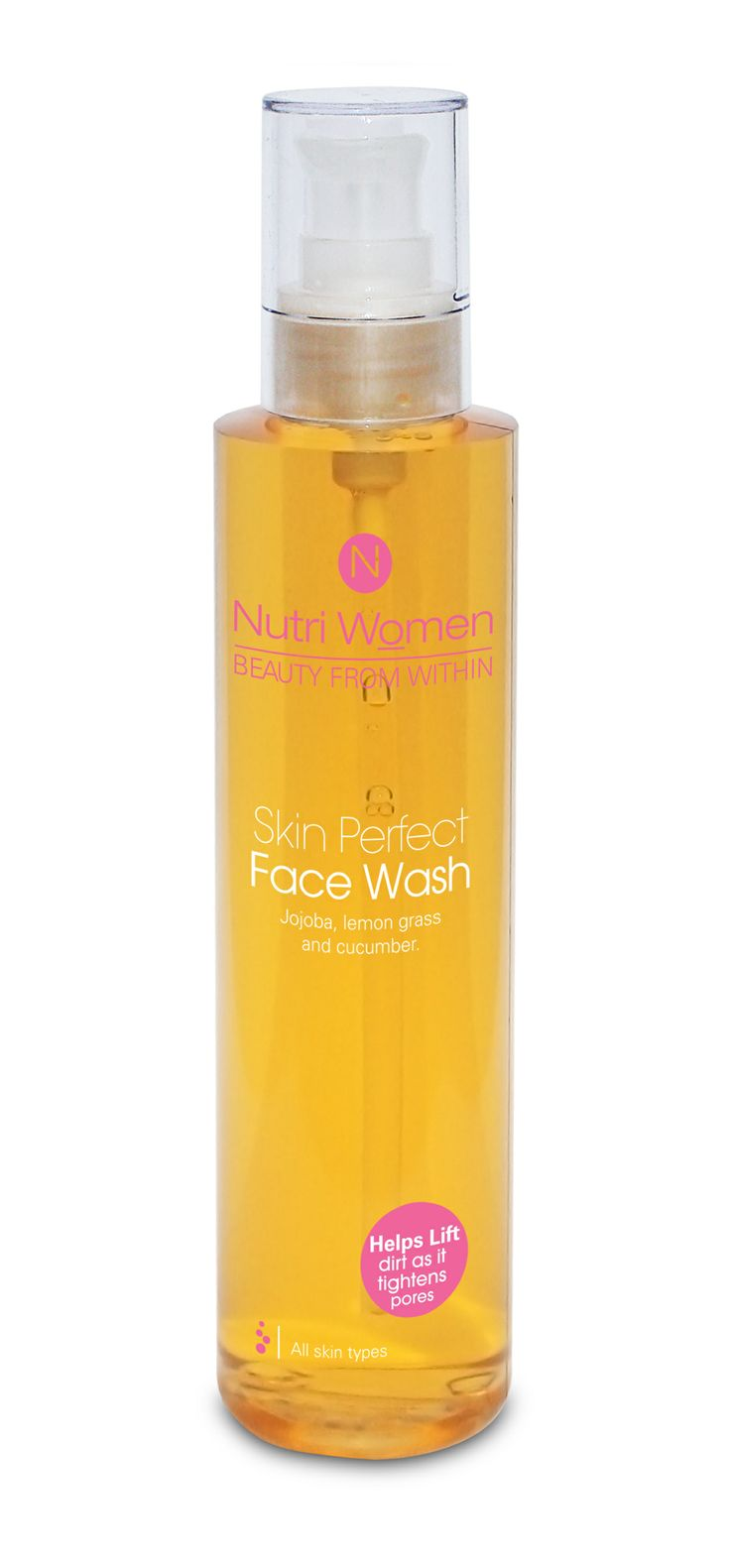 Skin perfect face wash. with lemongrass and jojoba, will lift dirt and purify skin