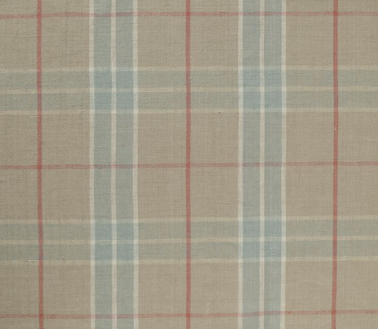 Stow 6152 -Opal/Coraline : Traditional French country check coloured in contemporary combinations; 100% linen with a washed finish for softness.Marvic Textiles