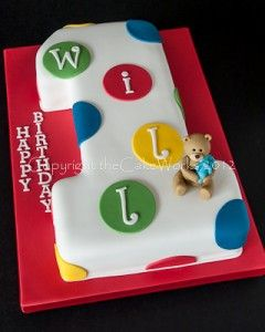 Cake maker theCakeWorks can provide a variety of first birthday cake designs in the Darlington and Durham areas.