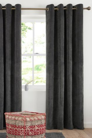 Buy Soft Velour Eyelet Curtains online today at Next: United States of America