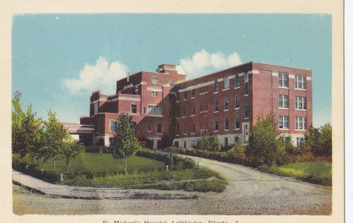 St Michael's Hospital Lethbridge Alberta Canada 1930 40s Peco Postcard | eBay
