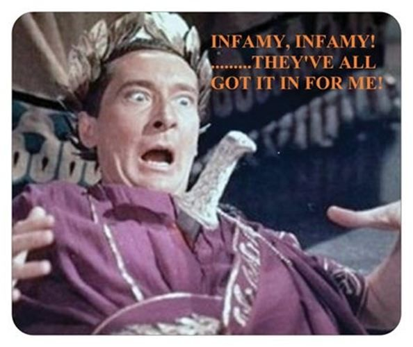 Image result for infamy infamy they've got it in for me