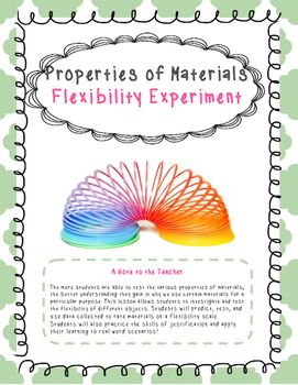 The more students are able to test the various properties of materials, the better understanding they gain in why we use certain materials for a particular purpose. This lesson allows students to investigate and test the flexibility of different objects.
