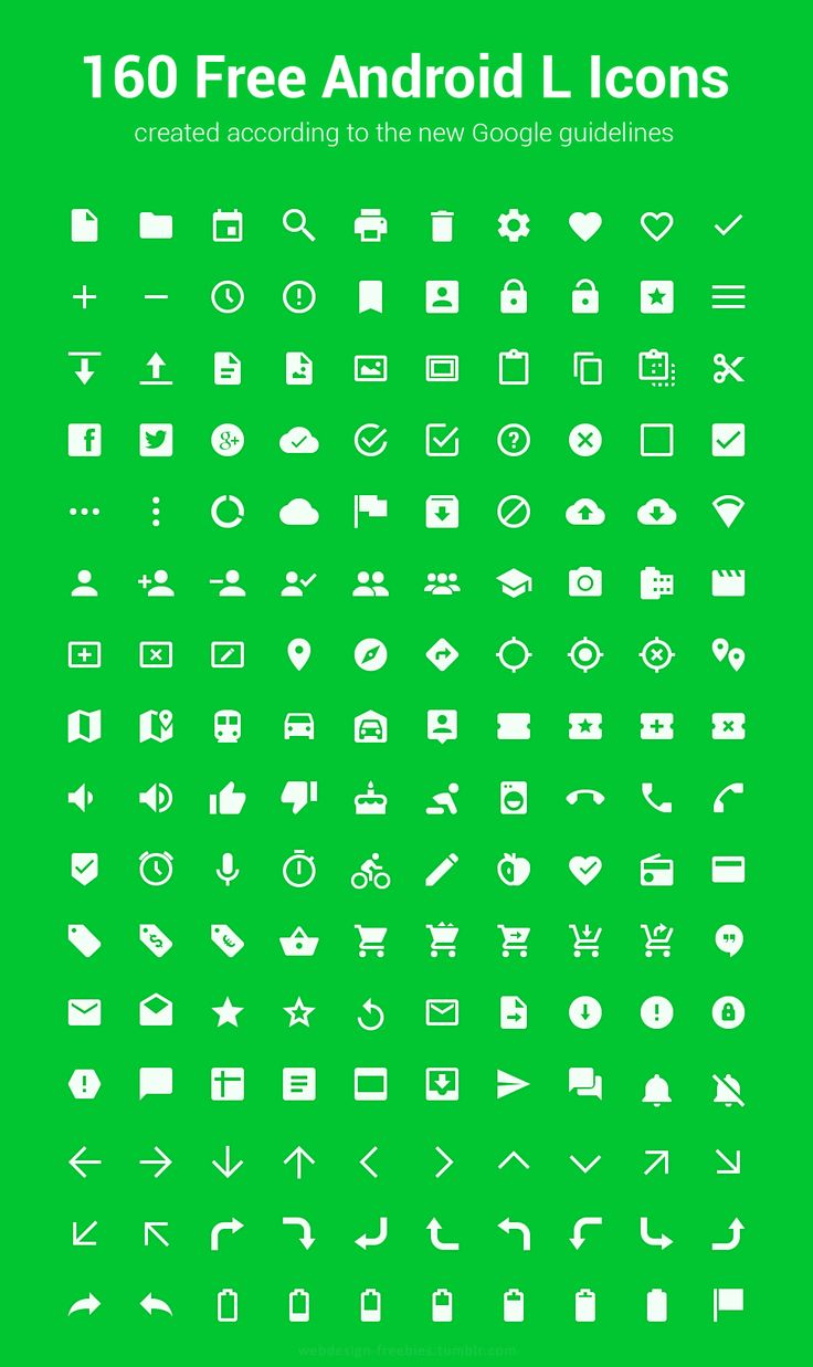 160 Free Android L Icons