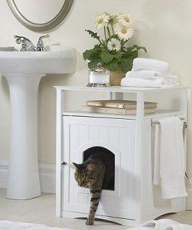 Litter boxes that look life furniture for small spaces
