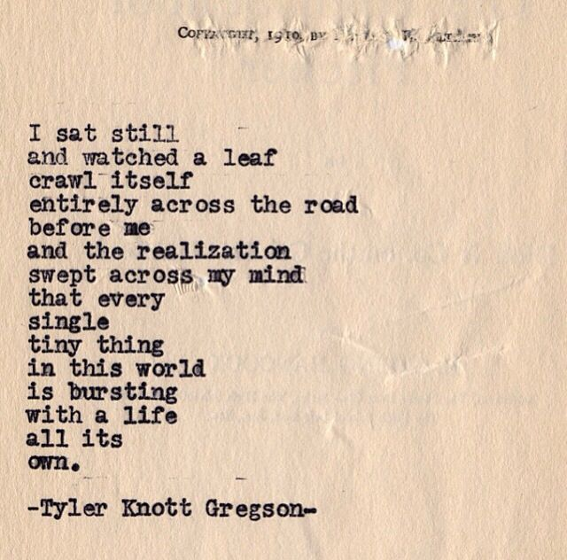 Typewriter Series #551 by Tyler Knott Gregson