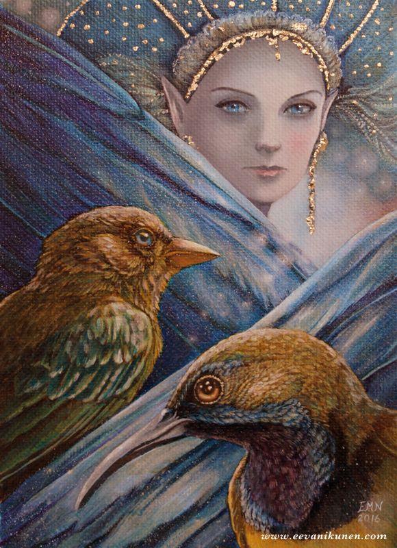 'Melian' Oil painting by Eeva Nikunen