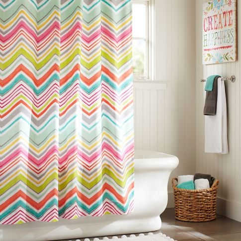 Colorful Shower Curtain 115 best guest bathroom images on pinterest | bathroom ideas, home
