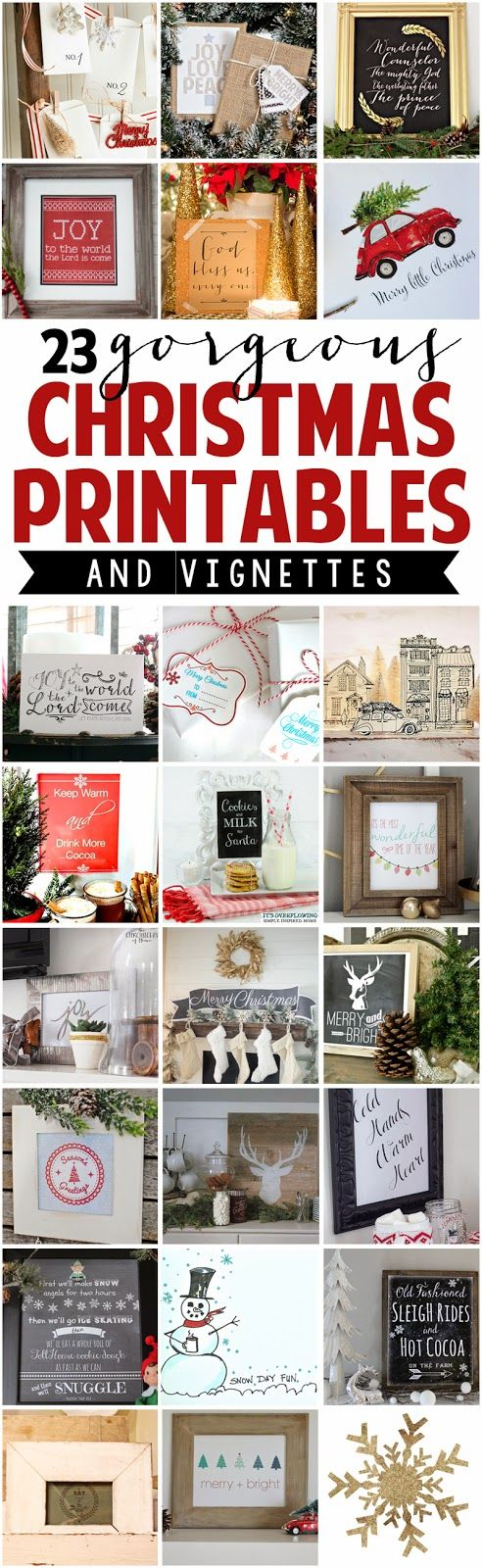 The Chronicles of Home: FREE CHRISTMAS PRINTABLE + A Ten Minute Holiday Vignette