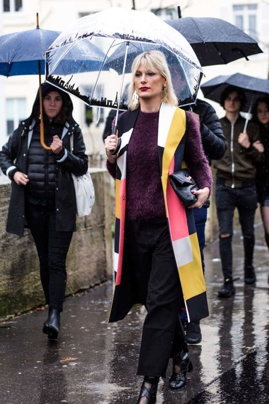 100% humidity: 72 street style inspirations for a wet weather day: