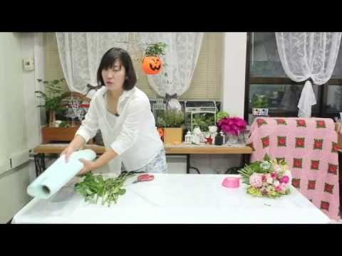 플로민트_06_꽃다발 선물포장 - YouTube