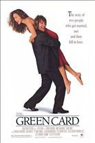 Green Card (1990). [PG-13] 103 mins. Starring: Gerard Depardieu, Andie MacDowell, Bebe Neuwirth, Gregg Edelman, Robert Prosky, Ethan Phillips and Mary Louise Wilson
