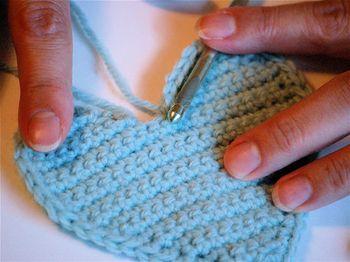 crochet heart - rows pattern