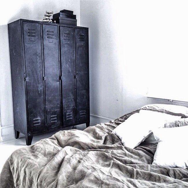 Wohnen, Garderoben, Schlafzimmer, Zuhause, Metallschränke, Altmodische  Schlafzimmer, Industriedesign, Industrieller Stil, Industrie Stil  Inneneinrichtung