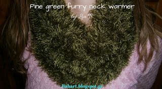 Lia B. Creations: Pine green furry neck warmer