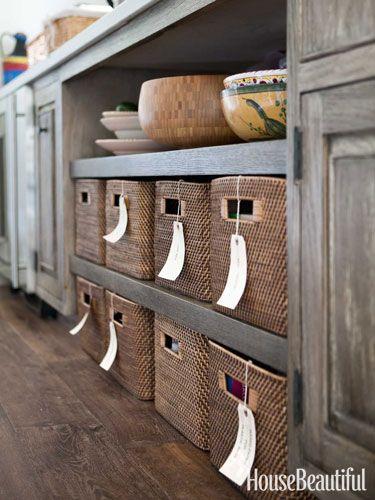 An Old Wood Kitchen With Graphic Black And White Accents Kitchen Organizationkitchen Storageorganization Ideasstorage