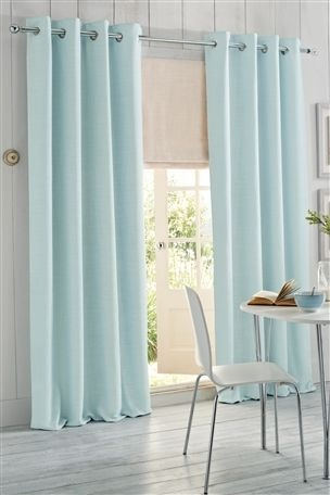 Buy Duck Egg Woven Texture Eyelet Curtain From The Next UK Online Shop LivingDuck Blue Living RoomDuck