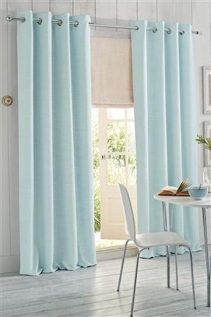 Buy Duck Egg Woven Texture Eyelet Curtain From The Next UK Online Shop LivingDuck Blue Living RoomDuck