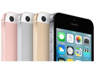 """iPhone SE Apple 16GB Dourado 4G Tela 4"""" Retina - Câm. 12MP iOS 9 Proc. Chip A9 Touch ID com as melhores condições você encontra no Magazine Eliasjunior31. Confira!"""