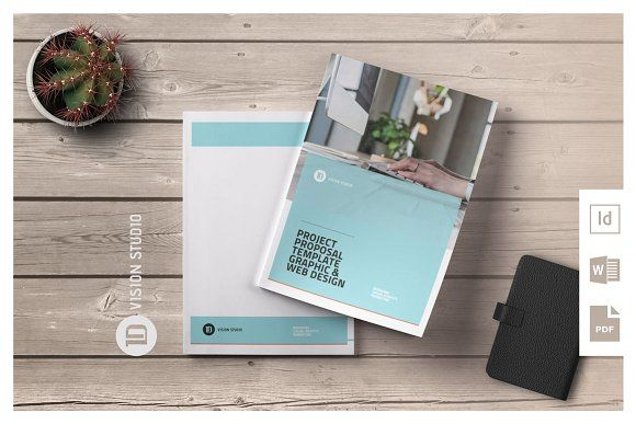 Project Proposal Template 009 by ID Vision Studio on @creativemarket