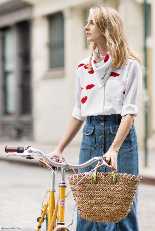 My Equipment! / Garance Doré look charmoso para andar de bicicleta pela cidade, cycle chic, street style