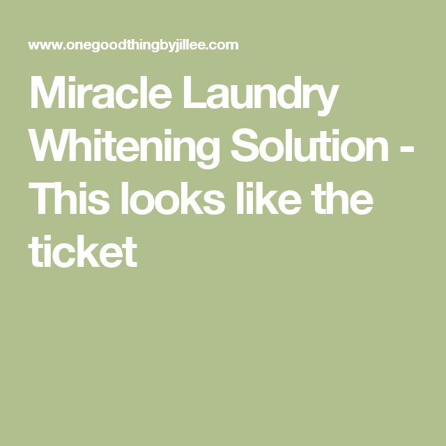 Miracle Laundry Whitening Solution - This looks like the ticket