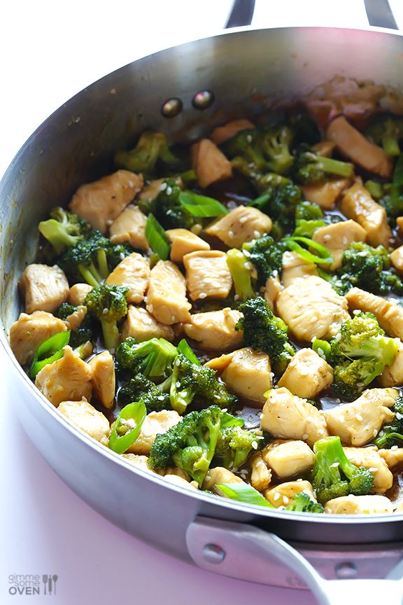12-Minute Chicken and Broccoli | gimmesomeoven.com